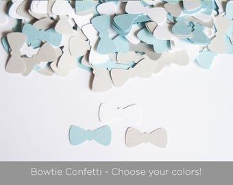 Little Man Baby Shower- BowTie Confetti - Baby Boy Shower - Bow Tie Confetti
