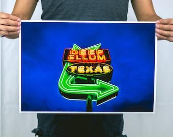 Neon in Deep Ellum - Large Photography Print
