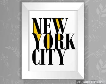 New York City Poster - Instant Download And Print - 8x10 AND 16x20 sizes - NYC Poster - NYC Printable - New York Wall Art - New York City