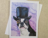 Boston Terrier Note Cards, Boston terrier Stationery, Boston Terrier Cards, Boston Terrier Gifts, Boston Terrier Mom Gifts