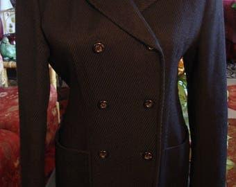 Vintage Black Double Breast Jacket
