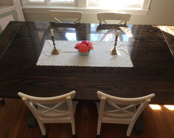 Farmhouse Trestle Table Kitchen Dining Room