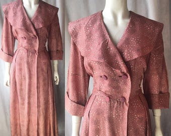 1940s dressing gown / robe / house coat