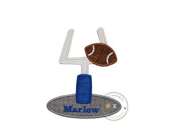 ON SALE NOW Football goal machine embroidered iron on applique, football party no sew fabric iron on patch, do it yourself boutique fashions
