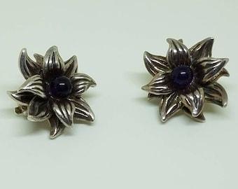 Stephen Dweck Sterling Silver Amethyst Vintage Earrings