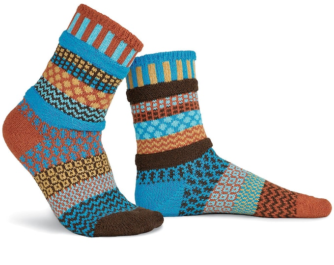 Solmate Socks - Amber Sky Crew