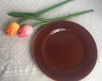 Franciscan Ware Gladding McBean Redwood Glaze El Patio Luncheon Plate Vintage China