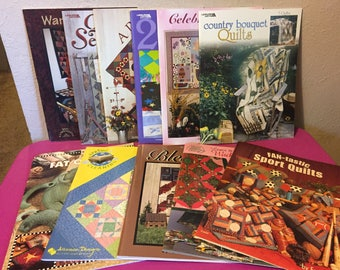 Lot of 11 Leisure Arts American School of Needlework & Other Quilt Patterns