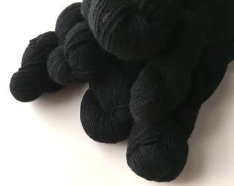 Reclaimed Fingering Yarn - Wool - Black