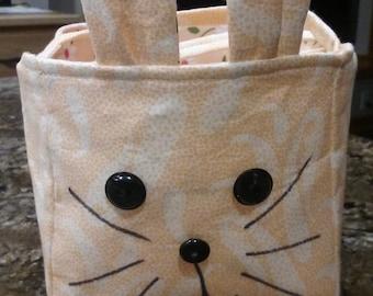 Easter Basket, Bunny, Orange