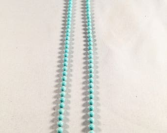 Vintage Necklace, Turquoise Colored Beads, (Not Plastic Beads) Vintage Jewelry