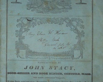 vintage concord mass diary poetry by mary eliza hosmer in john stacy diary book ca.1835