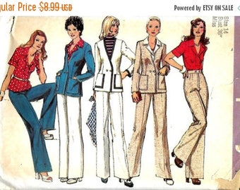 ON SALE Simplicity 6285 Misses Double Breasted Cardigan, Pants And Blouse Pattern, Size 14, Bust 36, UNCUT