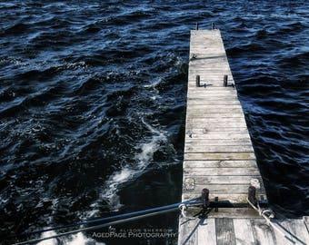Nautical Decor, Lake House Wall Art, Beach Cottage Wall Decor, Minimal Art, Boat Decor, Coastal Photography   'Finger Pier'
