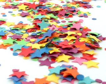 Table Sprinkles - Rainbow Dash Party Supplies - Unicorn Party Decoration - Rainbow Party - Rainbow Dash Party Decorations - Table Confetti