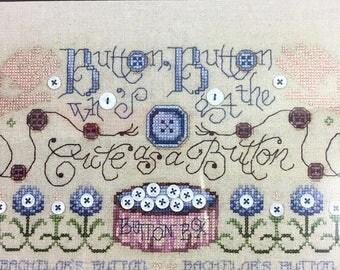 Artiste Stamped Cross Stitch Kit BUTTON, BUTTON Zweigart Free Shipping