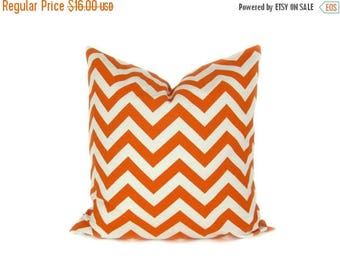 15% Off Sale ORANGE Pillow. Decorative Pillow, Chevron Pillow, Accent  pillow, throw pillow covers ,  Pillows for couch,  Orange and Cream
