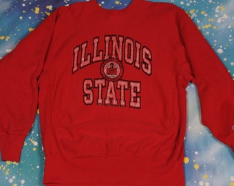 ILLINOIS State Reverse Weave CHAMPION Sweatshirt Size XL