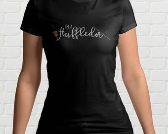 I'm A HUFFLEDOR Ladies T Shirt | Hufflepuff and Gryffindor | Combined Hogwarts Houses