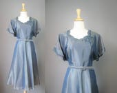 Blue Cocktail Dress / Vtg...