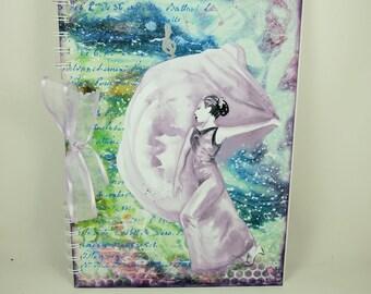 Scrapbook Album, Large A4, Dancer, Art Journal, Mixed Media, Scrapbooking, Gift for Her, Musical, Dancing, Can Be Personalised, Memory Book