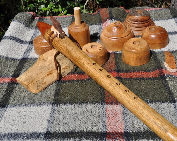 F# Scale Native American Style Flute Indian Laurel  Wood BY CBF