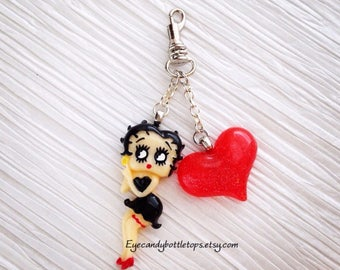 Betty And Heart Keychain