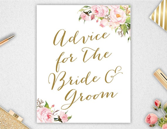 Advice For The Bride & Groom Sign // INSTANT DOWNLOAD // 8x10