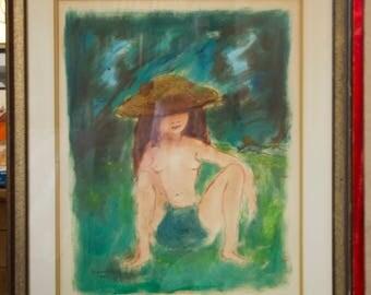 Oil & Gouche by Etienne (Paris) Signed