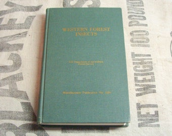 1977 Western Forest Insects, US Dept. of Agriculture Forest Service, Hard Bound, Excellent Condition