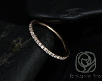 Rosados Box Phyllis Super Thin 14kt Rose Gold Diamond FULL Eternity Band