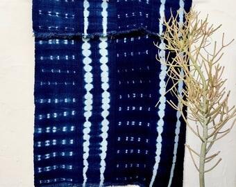 African Indigo Mudcloth Fabric African Fabric African Mudcloth Textile Indigo Blue Decor African Throw Tribal Fabric Mud Cloth Textile #7