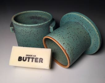 Butter Keeper-Housewarming Gift-Kitchen Decor-Pottery-Foodie GiftGirlfriend Gift-Gift for Sister-Gift for Mom-Gift for Women-Wedding Gift-
