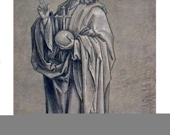 Hans Holbein-Christ in the Act of Blessing-1930 Lithograph