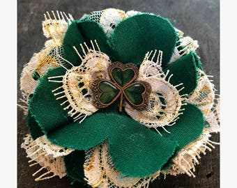 Saints Ivory and Green, Hair Accessory