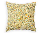 MADRID MAP, Throw pillow for your home decor (ivory version)