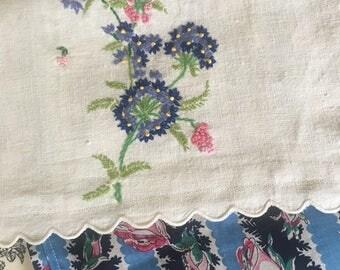 Handmade travel bag embroidery small