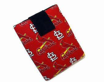 Tablet Case, iPad Cover, St. Louis Cardinals, MLB, Baseball, Kindle Fire Cover, 7, 8, 9, 10 inch Tablet Sleeve, Cozy, Handmade, FOAM Padding