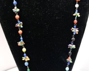 Vintage Czech Glass Beads Necklace