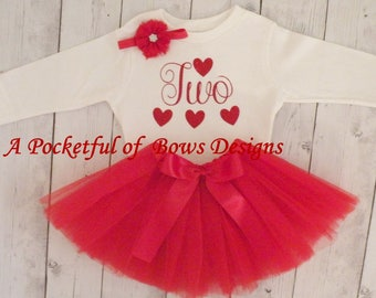 2nd Birthday Outfit, Tutu Outfit, Girls Birthday 1st, 2nd, 3rd, 4th
