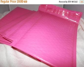 On Sale 20 6x10 Hot Pink Poly Bubble Mailers Self Seal Envelopes size 0 6x9 usable size Padded Mailing Shipping Envelopes