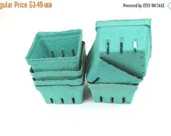On Sale 12 Bargain Bin Green Pint Baskets, Pulp Berry Baskets, Recyclable Party Favor Boxes Gift Baskets Cookies Treats Baked Goods Party Fa