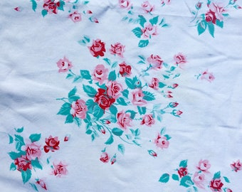 Vintage Wilendur Tablecloth, Rose Design, Good Condition