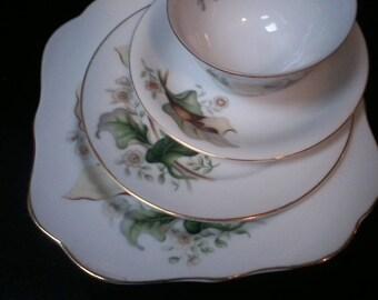 Wood Lily China, Grace China, Replacements, fine China, Four Piece China