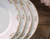 Wm. Guerin Limoges Dinner Plates Set of 4 GUE17 Vintage, Antique Plates, Elegant Tea Party, Wedding, Cottage Style
