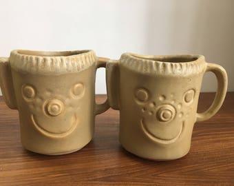 People lovers tan of buff colored mugs