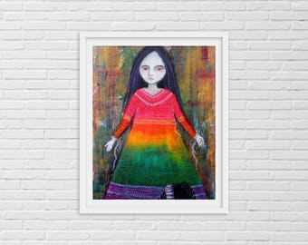 ETSY Art Prints - Contemporary Modern Art - Folk Art