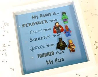 Superhero Lego Dad Daddy Frame