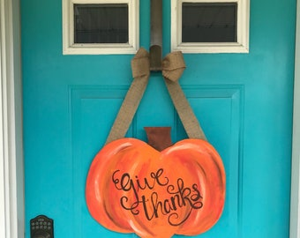 Give Thanks Fall Door Hanger