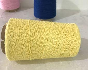 Cottolin 22/2 Light Yellow For Weaving Organic Yarn Cotton Cotton /Linen 60/40% 100g Cone